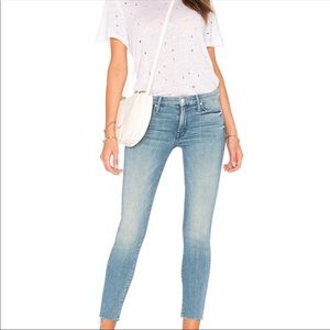 Mother Looker Fray When Sparks Fly Skinny Jeans